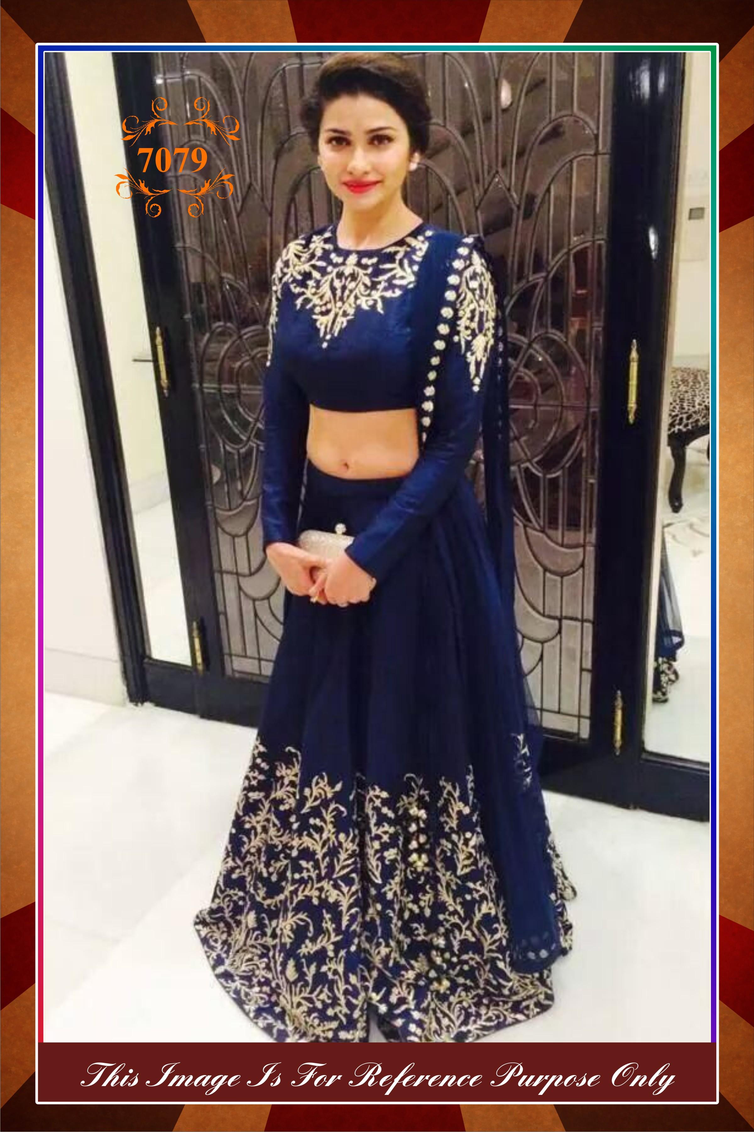 f1c5102dae Heavy Partywear Stylist Wedding Designer Blue Lehenga Replica - AURA  D'ZIGNS - 380547