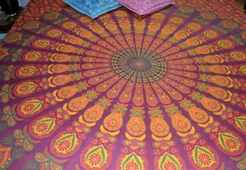 Mandala Double Bedspread Hippie Gypsy Bedding for Bedroom Bohemian Psychedelic Blanket Beach Throw Bed sheet