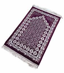 Islamic prayer musallah prayer mat rug diamond magenta flower