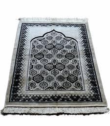 Islamic muslim janamaz musallah prayer mat rug diamond black & white