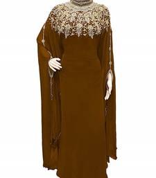 lavender georgette embroidered stone work islamic kaftan