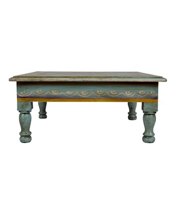 Awesome Lalhaveli Wooden Children Stool 13 X 13 X 5 5 Inch Turquoise Camellatalisay Diy Chair Ideas Camellatalisaycom