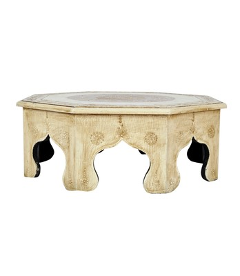Lal Haveli Handcrafted Wooden Chowki Table Stool 17 X 17 X 6 Inches