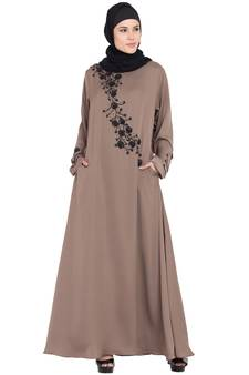 53b8ed27bdbf Coffee Satin Abaya Online Shopping for Women at Low Prices