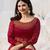 Designer Red Embroidered Long Anarkali Suit