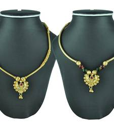 Crystal Yellow Gold Alloy Combo Pack Of 2 Necklace