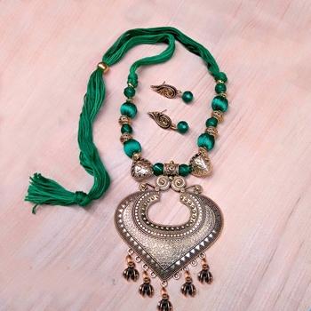 Dark Green Antique Necklace Sets