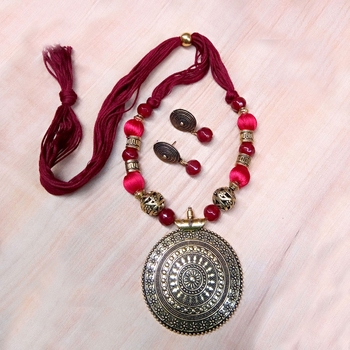 Maroon Antique Necklace Sets
