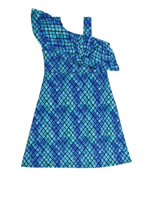 Multicolor printed cotton knitted kids-frocks