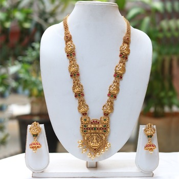 South Indian temple jewellery necklace set