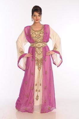 Multicolor Georgette Embroidered Zari Work Islamic Kaftans