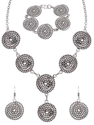 Silver na necklace sets