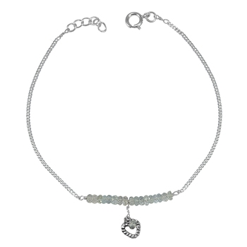 White crystal anklets