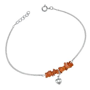 Orange Carnelian Anklets