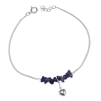 Purple amethyst  anklets