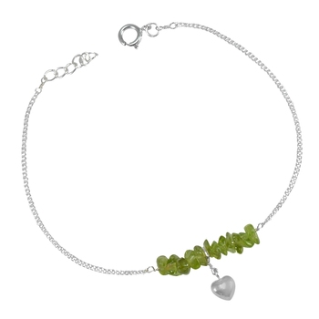 Green Peridot   Anklets