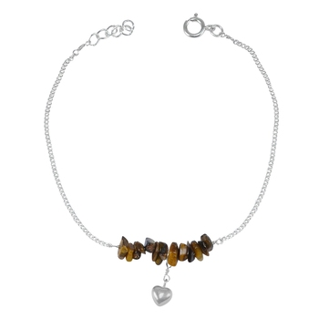 Brown crystal anklets