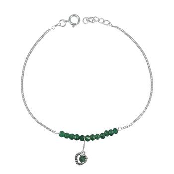 Green jade anklets