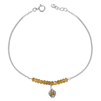 Yellow citrine anklets