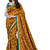 multicolor printed dupion-silk saree with blouse