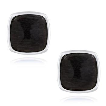 Black cufflink