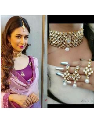 Alloy Kundan Choker Necklace set