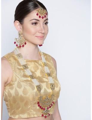 Beaded Pearl Kundan Rani Necklace