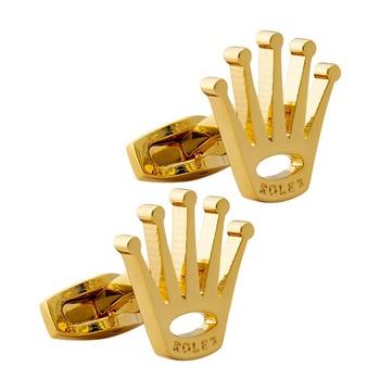Gold cufflink