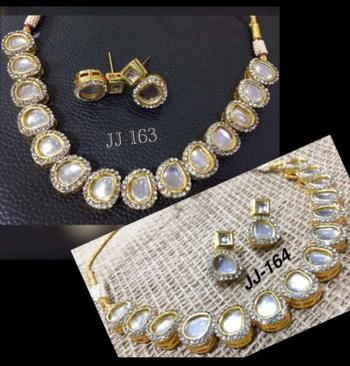 Silver cubic zirconium  necklace sets