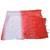 Red White Bandhej Cotton Hand Work Dupatta