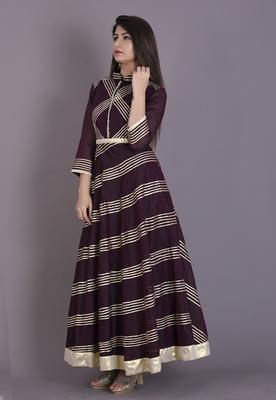 Wine gota dress