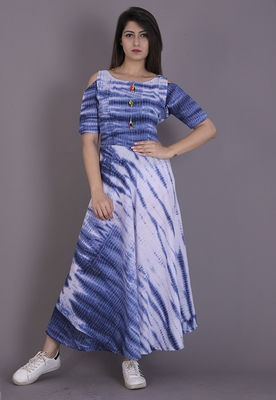 Blue tie & die dress