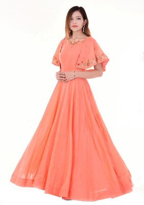 Peach cape dress