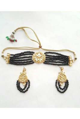 Choker Set (Black) Necklace Set