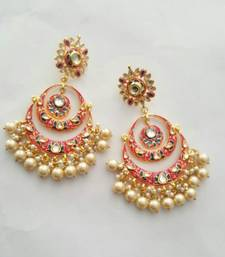 Gulabo Chandbali (Pink) Earrings