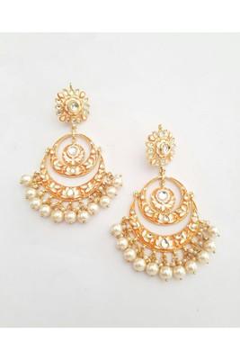 Gulabo Chandbali (Orange) Earrings