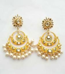 Gulabo Chandbali (Yellow) Earrings