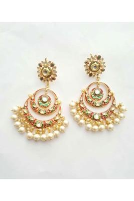 Gulabo Chandbali (Red) Earrings