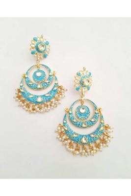 Gulabo Chandbali (Feroza) Earrings
