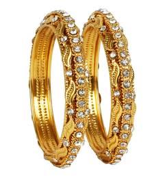khetlazee gold plated alloy metal bangles set