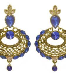 kundan stone floral blue beads Earrings