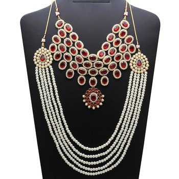 Maroon Necklace Sets