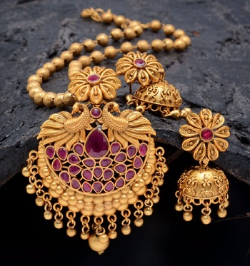 Pink agate pendants