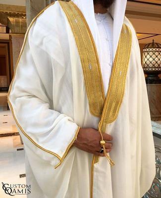 White Arabic Bisht Thobe