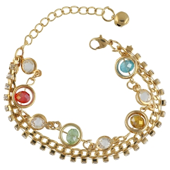 Gold Tone Style Handmade Adjustablechain Charm Bracelet For Girls/Womens