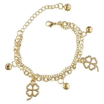 Gold Tone Style Handmade Adjustablechain Charm Bracelet For Girls/Womens