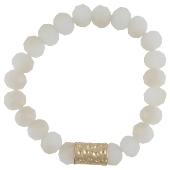 Handmade Adjustable Bracelet With White Bead For Girls/Womens