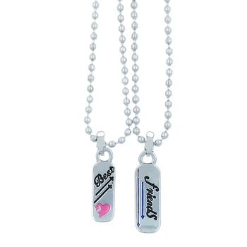 Valentine Day & Friendship Day Special For Best Friend With Best Friend Letter Design Pendant With Chain