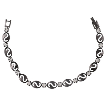 Black Tone Bracelet With Smooth Finish For Women, Girlfriend,Girls & Wife