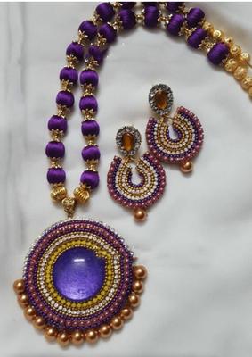 Purple necklaces